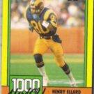 HENRY ELLARD 1990 Topps 1000 Yd. Club #6.  RAMS