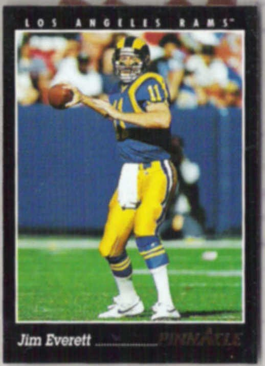 JIM EVERETT 1993 Pinnacle #20.  RAMS