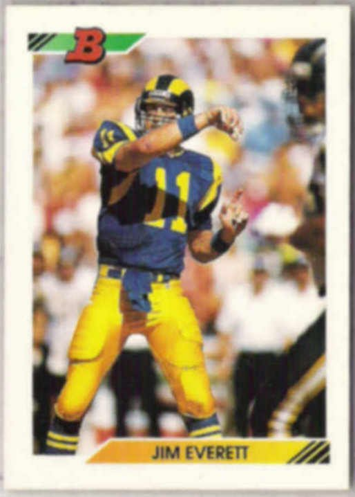 JIM EVERETT 1992 Bowman #176.  RAMS