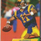 JIM EVERETT 1992 Fleer Ultra #206.  RAMS