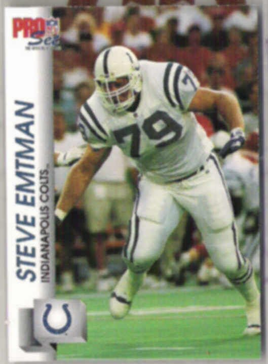 STEVE EMTMAN 1993 Pro Set #523.  COLTS