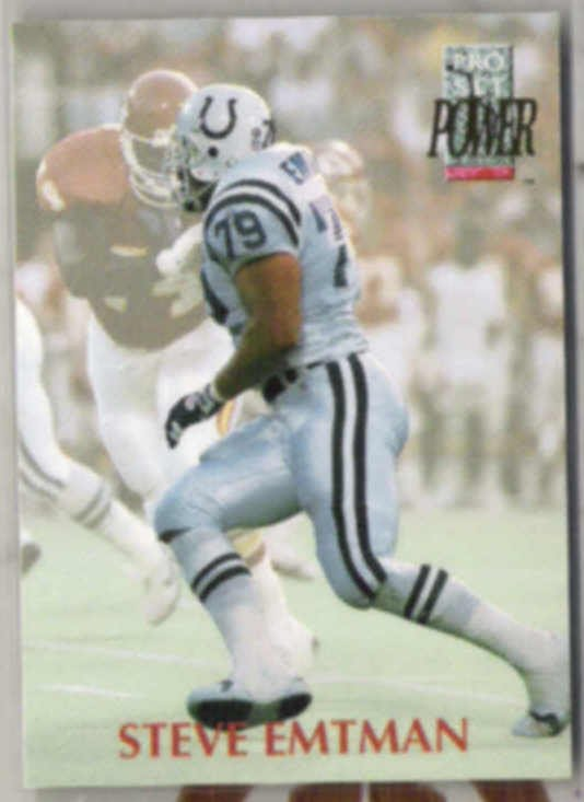 STEVE EMTMAN 1992 Pro Set Power RC #322.  COLTS