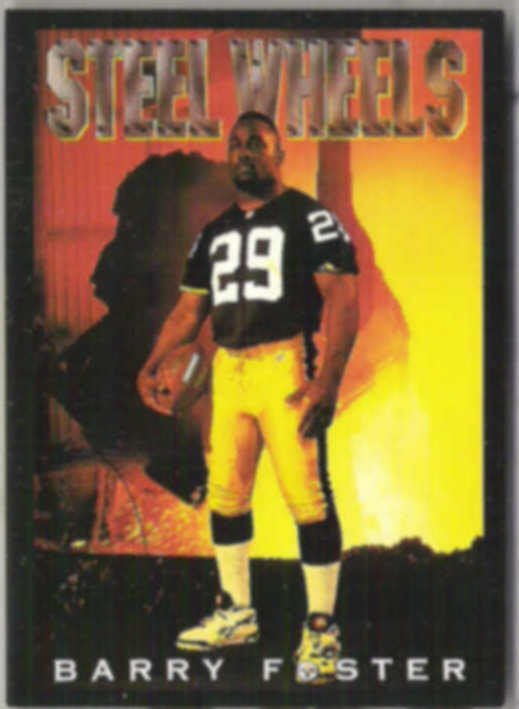 BARRY FOSTER 1993 Skybox Poster #CB3.  STEELERS