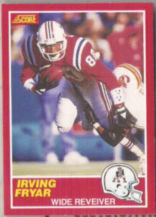 IRVING FRYAR 1989 Score #125.  PATRIOTS