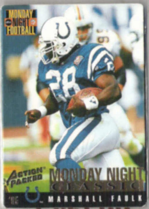 MARSHALL FAULK 1995 Action Packed MNF #104.  COLTS