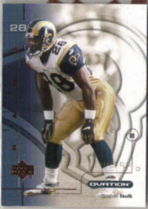 MARSHALL FAULK 2001 Upper Deck Ovation #72.  RAMS