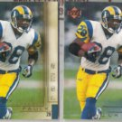 MARSHALL FAULK 2000 Upper Deck Gold Reserve + sister.  COLTS