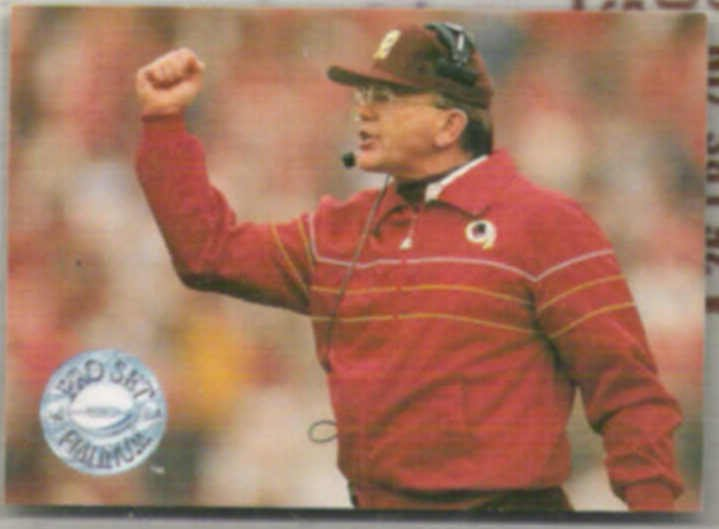 JOE GIBBS 1991 Pro Set Platinum #284.  REDSKINS