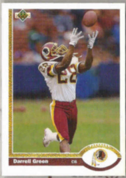 DARRELL GREEN 1991 Upper Deck #438.  REDSKINS