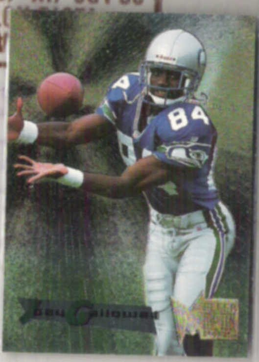 JOEY GALLOWAY 1995 Fleer Metal RC #181.  SEAHAWKS