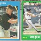 GRAIG NETTLES 1987 Fleer + 1988 Score.  PADRES / BRAVES