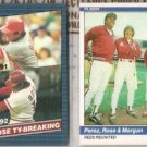 PETE ROSE 1984 Fleer + 1986 Donruss.  REDS / PHILLIES