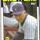 GEORGE BAMBERGER 1986 Topps #21.  BREWERS