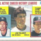 JIM PALMER 1984 Topps Leaders #715 w/ Sutton, John.  ORIOLES