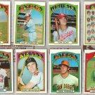 1972 Topps Baseball (8) Card (off-center) Lot in Nice Shape.