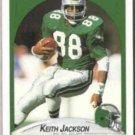 KEITH JACKSON 1990 Fleer #86.  EAGLES