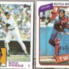 BUTCH WYNEGAR 1980 + 1984 Topps.  NYY / MINN.