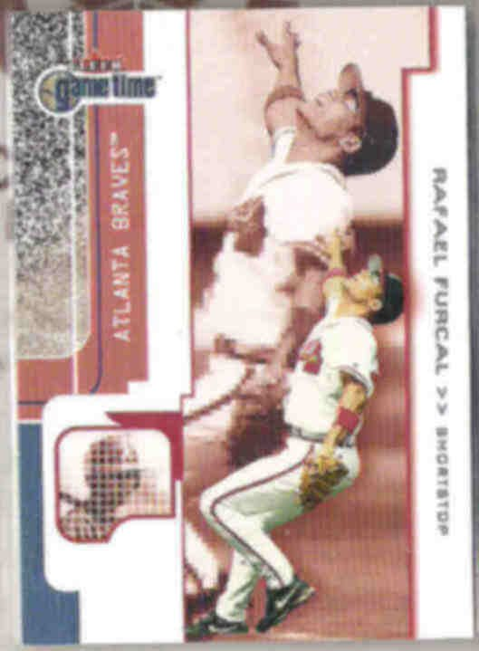 RAFAEL FURCAL 2001 Fleer Game Time #75.  BRAVES
