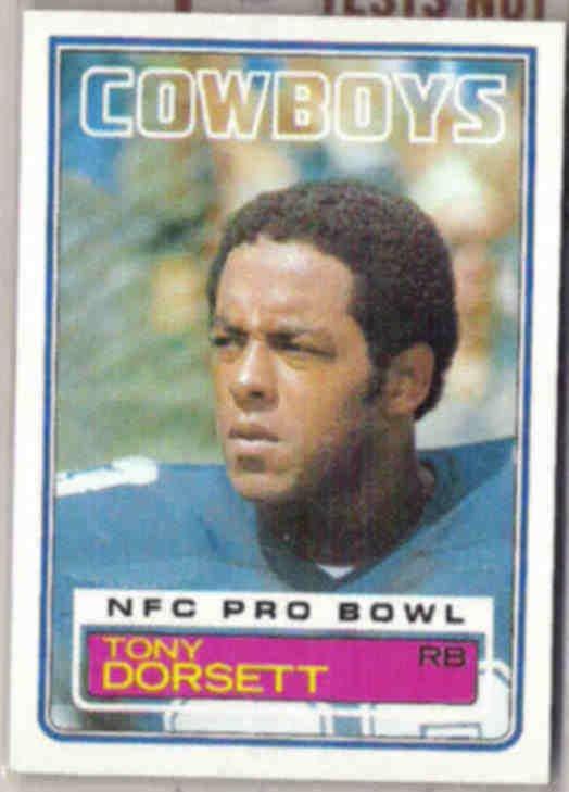 TONY DORSETT 1983 Topps #46.  COWBOYS