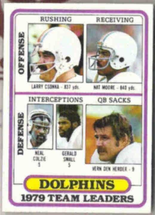 LARRY CSONKA 1980 Topps Leaders #76.  DOLPHINS