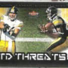 PLAXICO BURRESS 2002 Fleer TD Threats Ins. w/ WARD.  STEELERS