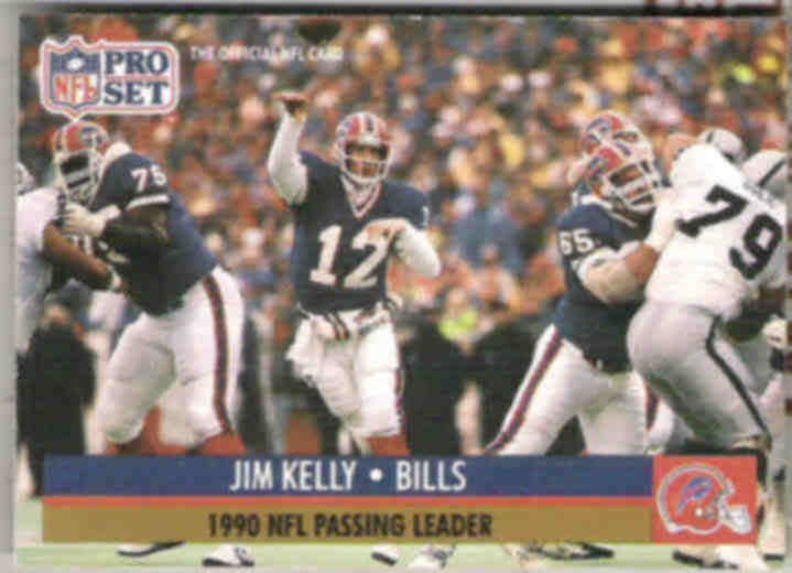 JIM KELLY 1991 Pro Set Leader #8.  BILLS