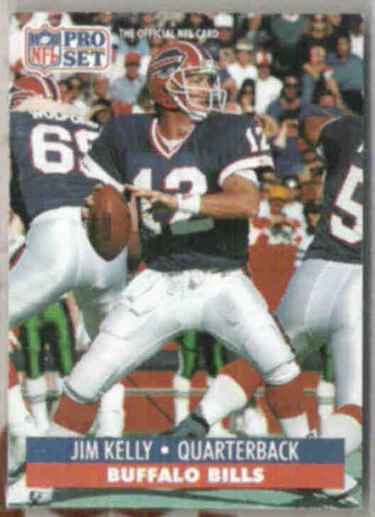 JIM KELLY 1991 Pro Set #78.  BILLS