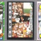 TONY DORSETT (3) Card Off Center 80's Lot.  COWBOYS