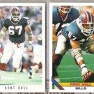 KENT HULL 1993 Score + 1993 Topps.  BILLS