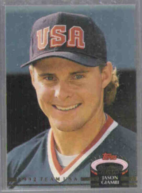 JASON GIAMBI 1992 Stadium Club #156.  USA