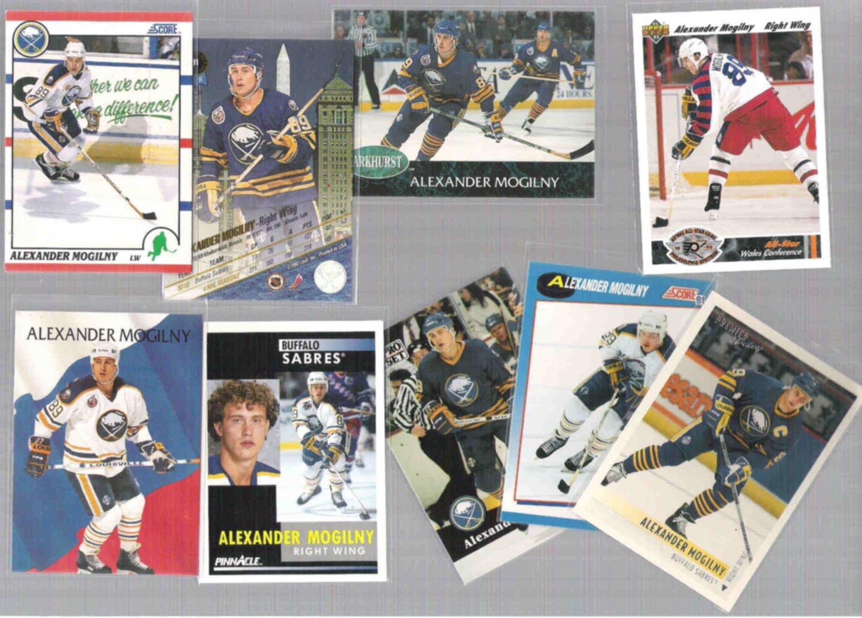 ALEXANDER MOGILNY (9) Card Lot w/ 1990 Score, 1991's++