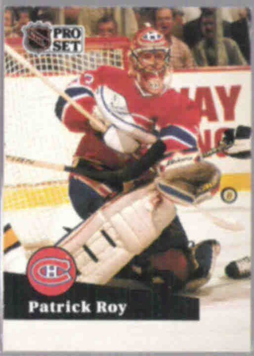PATRICK ROY 1991 Pro Set #125.  CANADIENS
