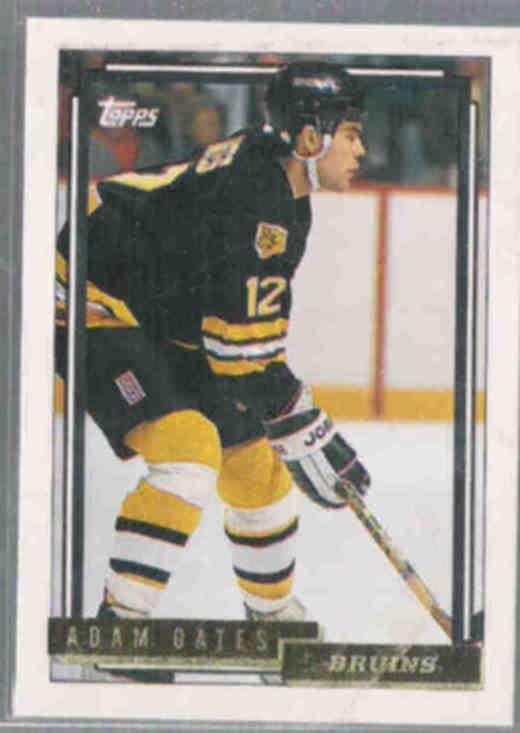 ADAM OATES 1992 Topps GOLD Insert #475.  BRUINS