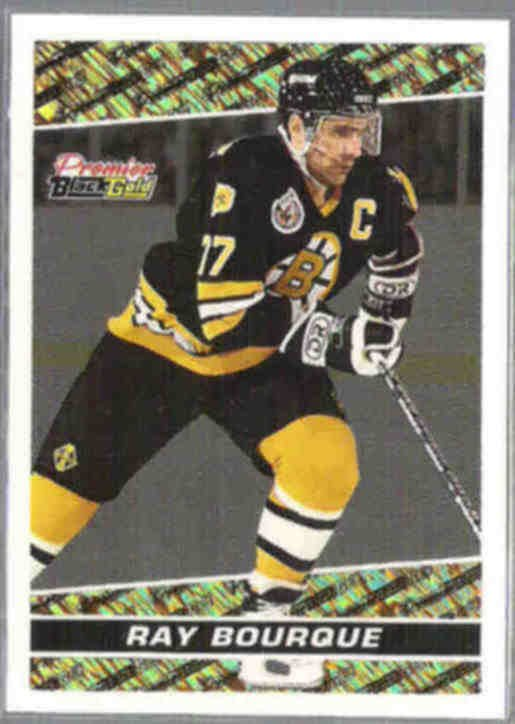RAY BOURQUE 1994 Premier Black GOLD Insert #15.  BRUINS