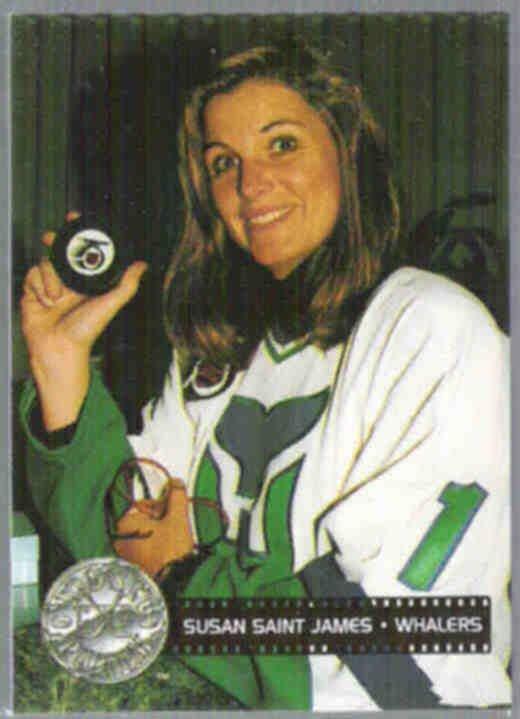 SUSAN SAINT JAMES 1991 Pro Set Platinum #299.  WHALERS