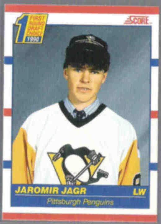 JAROMIR JAGR 1990 Score Draft #428.  PENGUINS