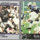 ALAN PAGE 1990 Pro Set / CARL ELLER 1997 UD.  VIKINGS