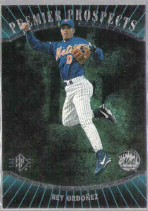 REY ORDONEZ 1996 UD SP Premier Prospects #1.  METS
