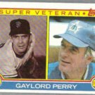 GAYLORD PERRY 1983 Topps Super Veteran #464.