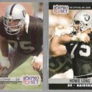 HOWIE LONG 1990 #545 + 1992 Pro Set #211.  RAIDERS