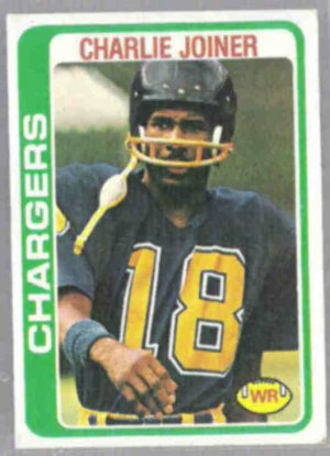 CHARLIE JOINER 1978 Topps #338.  CHARGERS