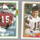 NEIL LOMAX (2) Card Topps Lot - 1988 + 1989.  CARDS