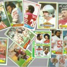 49ers Vintage (12) Card Lot in Nice Shape - 1978 - 83.