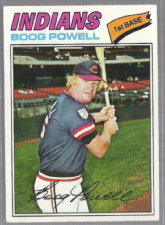 BOOG POWELL 1977 Topps #206.  INDIANS