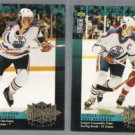 WAYNE GRETZKY (2) 1995 UD CC Record Coll. Inserts - OILERS