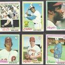 1978 Topps Baseball (6) Card HOF / Star Lot.