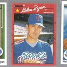 NOLAN RYAN (3) Card Lot w/ 1989 + 1990 UD, 1990 Donruss - RANGERS
