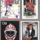 PATRICK ROY (4) Card Lot w/ 1987 OPC mini, 1992 Mask ++
