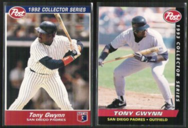 Tony Gwynn 1992 1993 Post Cereal Inserts Padres