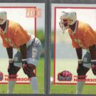 HARDY NICKERSON 1993 Power Moves Gold Stamp Ins. w/ sister.  BUCS